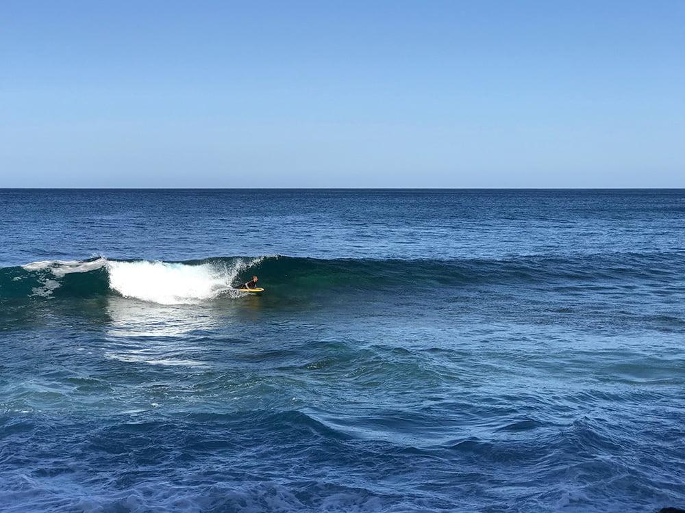 Surfen Punta del Hidalgo Teneriffa