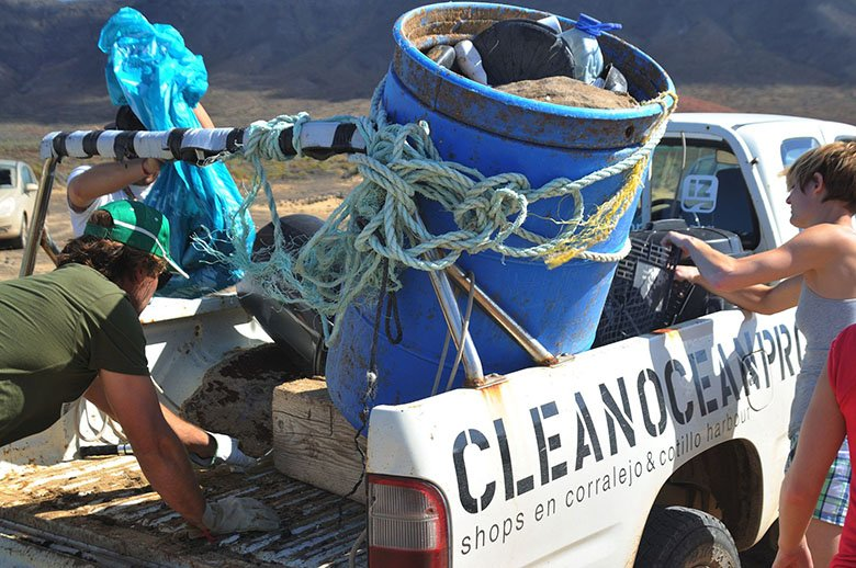 Ocean Clean Project Surfen auf Fuerteventura Canary Vibes