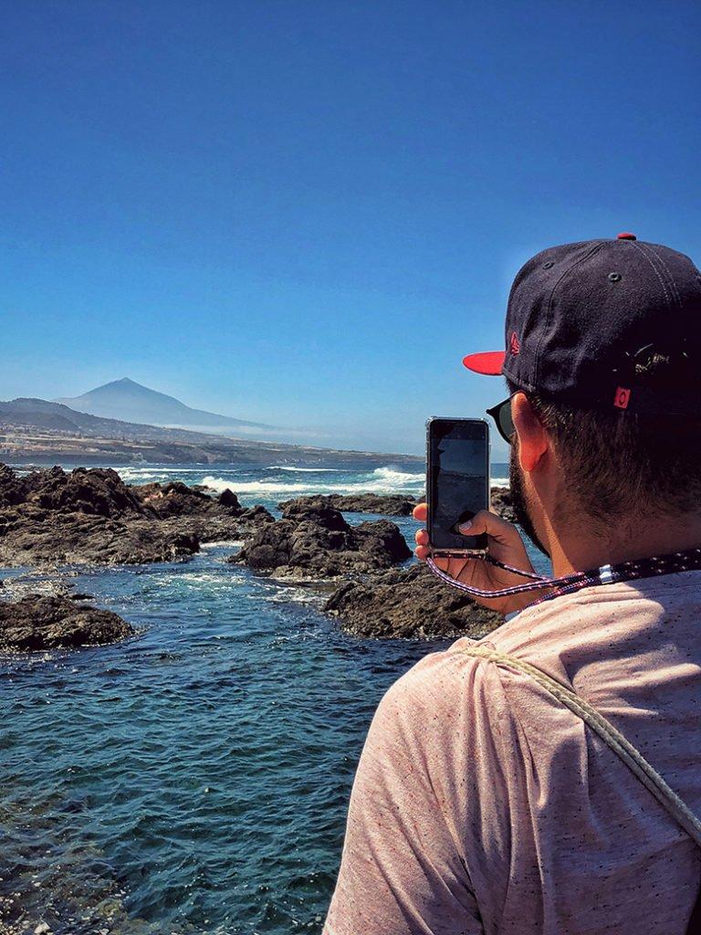 Blick zum Teide aus Punta del Hidalgo