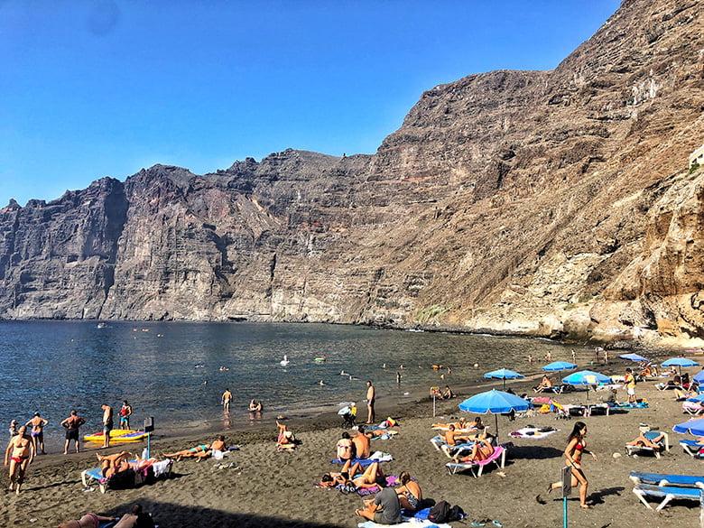 Strand Playa Gigantes Guios Teneriffa