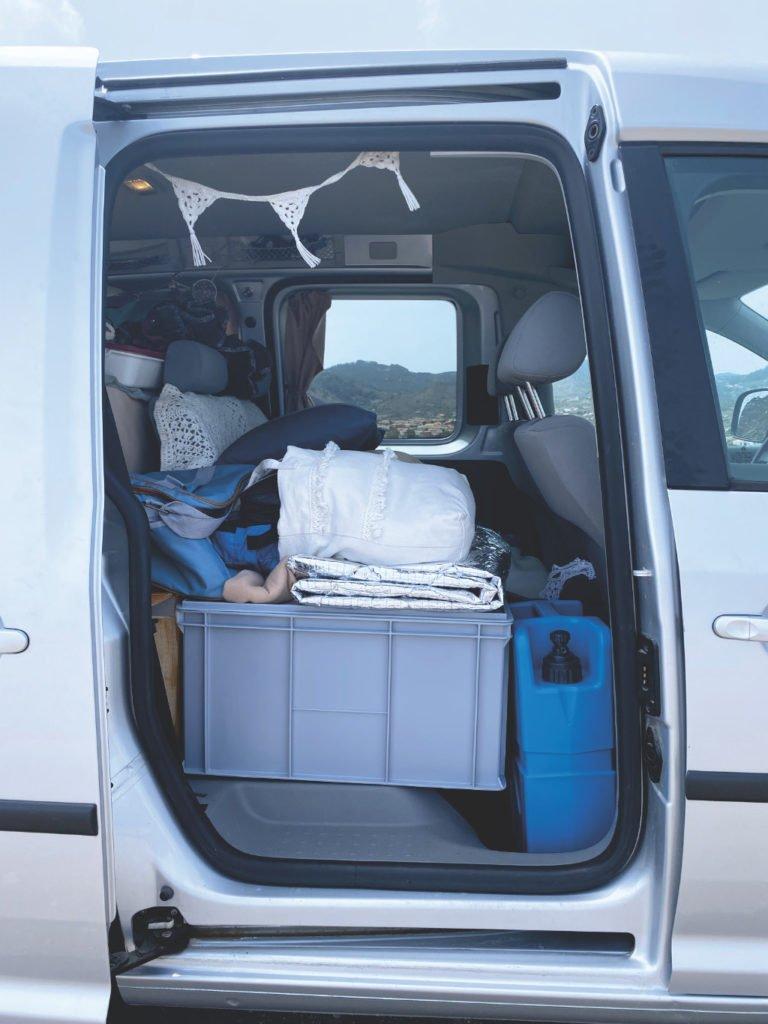 Stauraum VW Caddy Minicamper