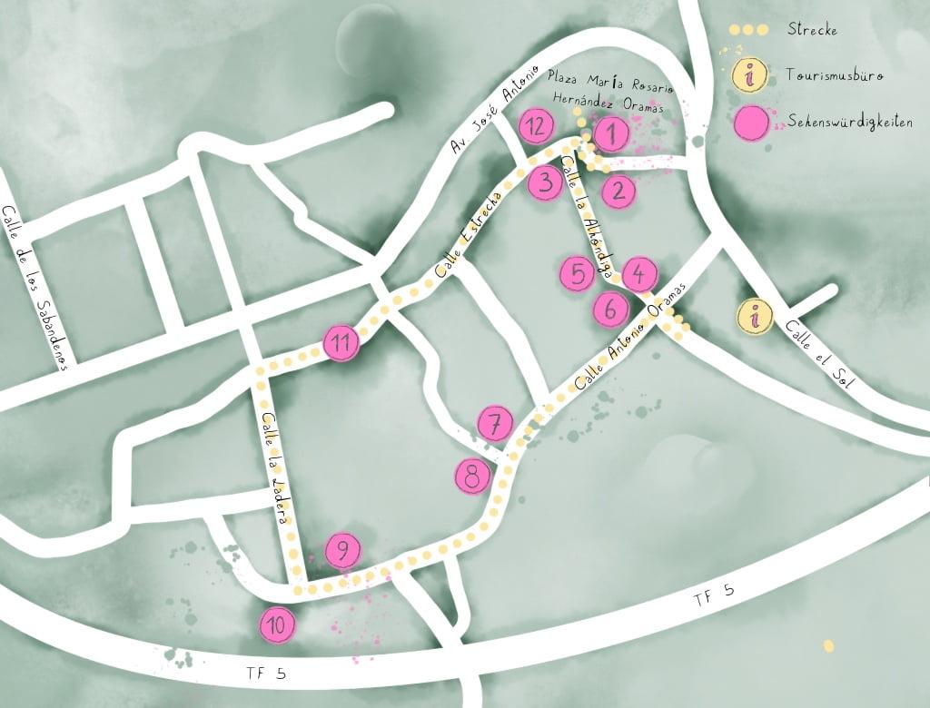 Rundgang historischer Ortskern San Juan de La Rambla