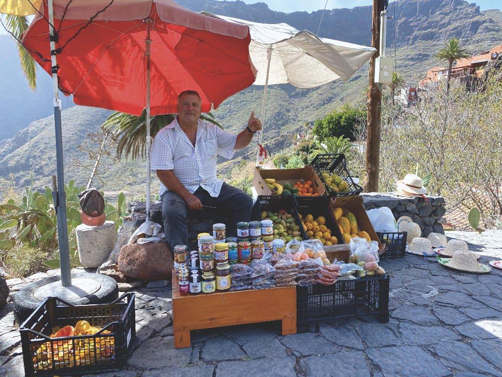 Verkäufer in Masca Teneriffa