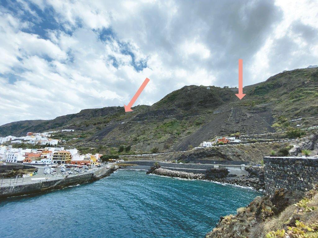 Aussicht zu den Acantilados de La Culata Teneriffa