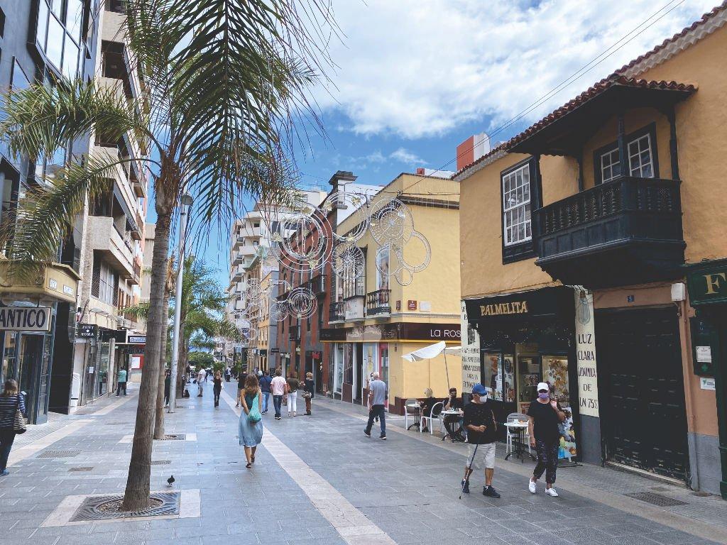 Calle Castillo die shopping-Straße von Santa Cruz de Tenerife