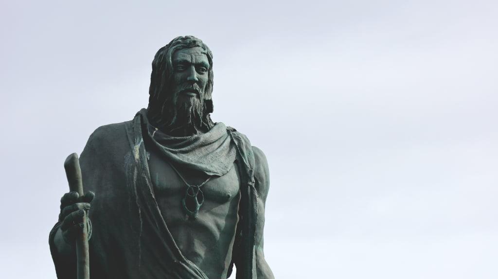 Guanche Statue in Candelaria auf Teneriffa