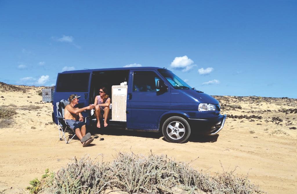Mit den Camper auf Lanzarote
