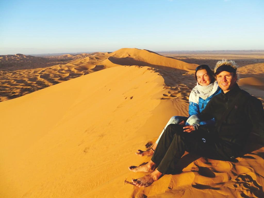 Mel und Alex in der Sahara Wüste