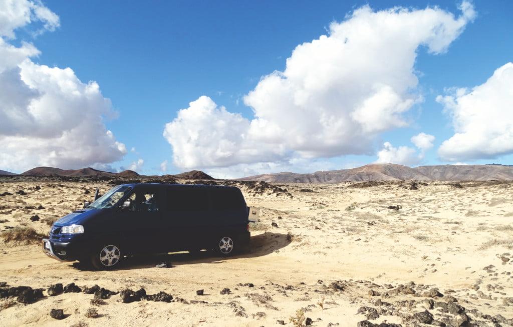 Wildcamping mit den Camper auf Lanzarote
