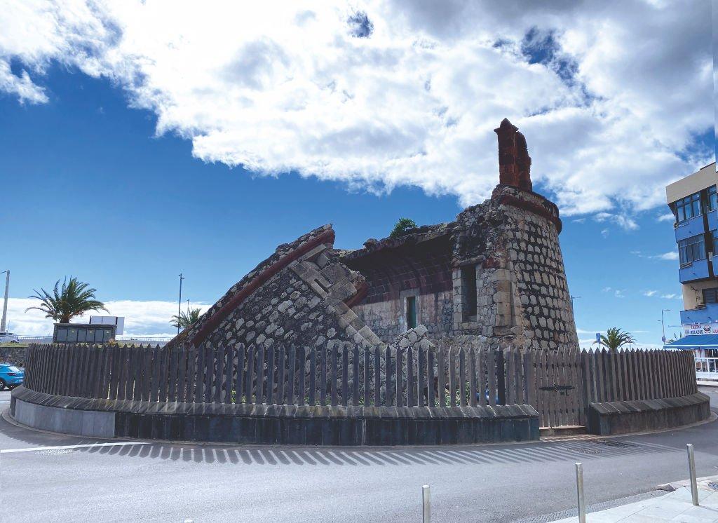 Die Ruine vom Castillo de San Andrés auf Teneriffa