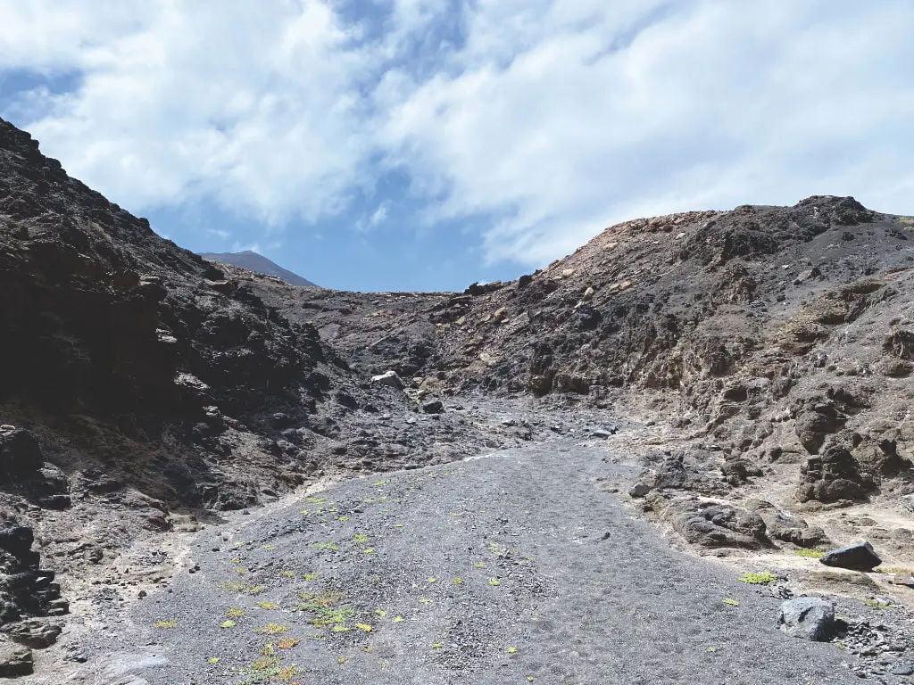 Schlucht in Cofete auf Fuerteventura