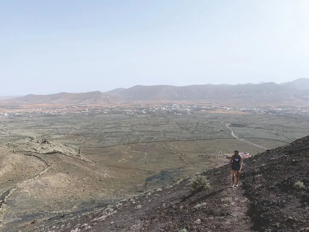 Weg zum Krater vom Volcán de las Arenas auf Fuerteventura