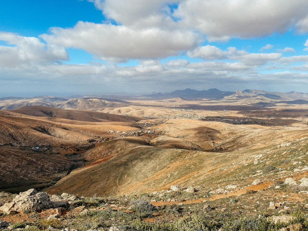 Aussicht über das Valle de Santa Inés auf Fuerteventura
