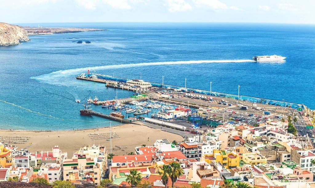 Der Hafen von Los Cristianos auf Teneriffa