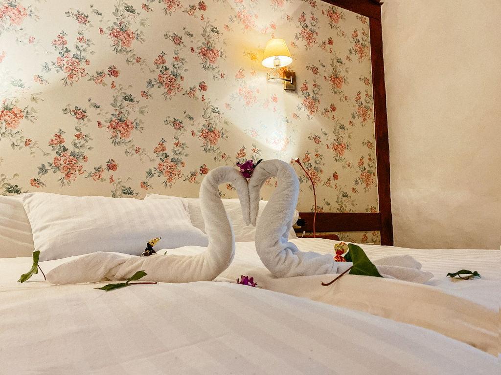 Handtücher im Hotel San Agustin auf Teneriffa