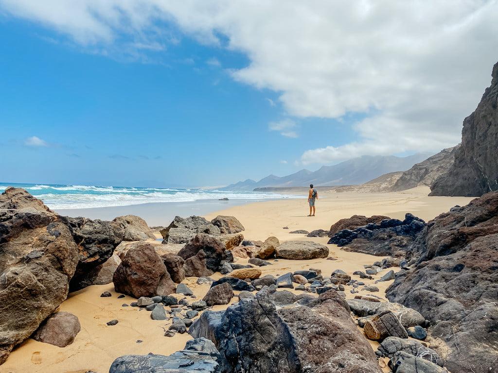Die Playa de Cofete im Süden von Fuerteventura