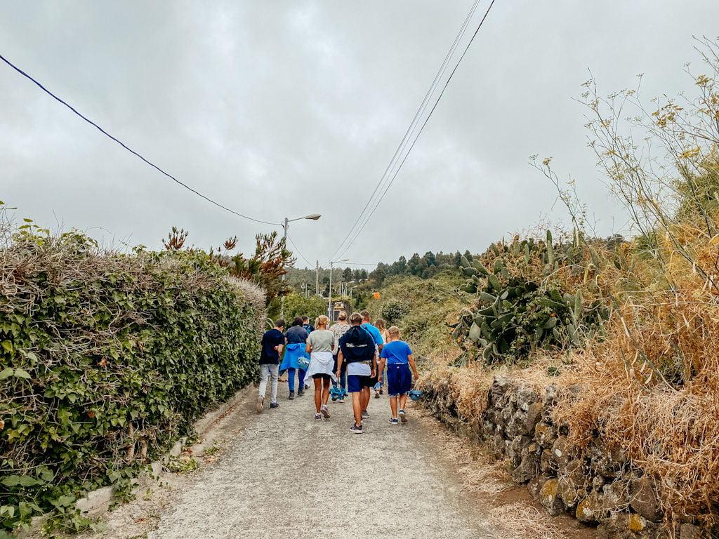 Der Weg zu der Cueva del Viento auf Teneriffa