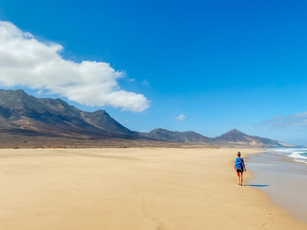 Der Strand von Cofete auf Fuerteventura