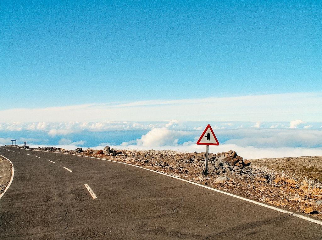 Straße La Palma mit Camper