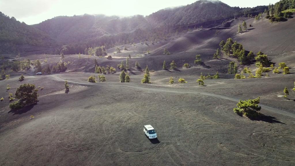 Camper-Stellplatz im Vulkanplateau auf La Palma