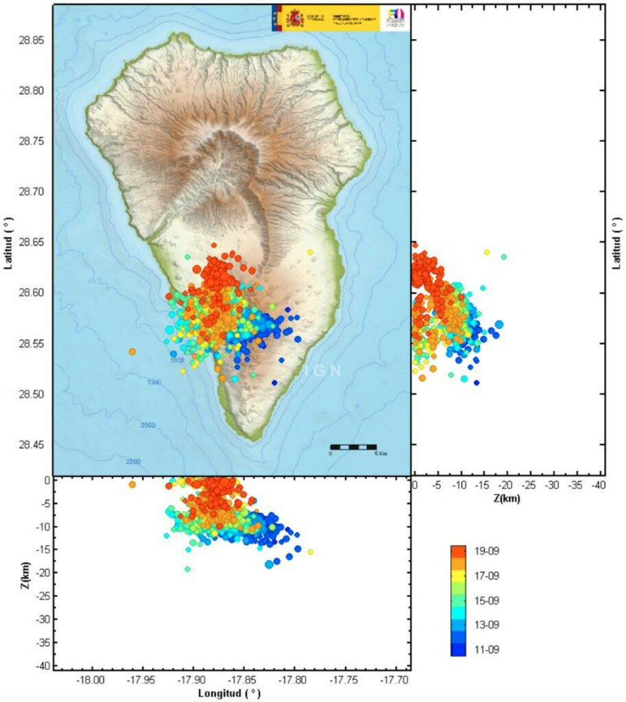 Erdbeben-Aktivität auf La Palma seit dem 11.09.2021