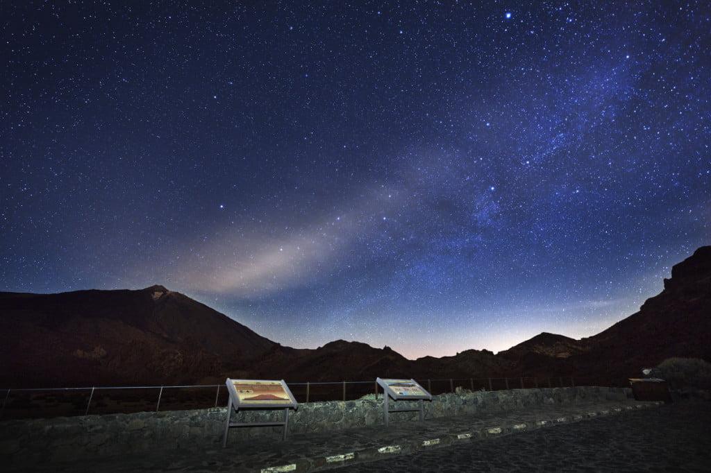 Sterne am Llano de Ucanca Teide Nationalpark Teneriffa